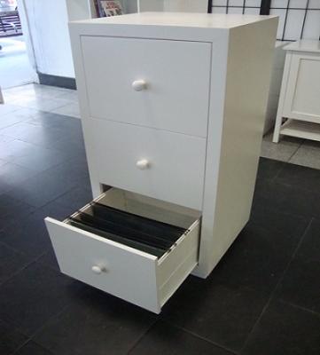 Modern File Cabinet - White