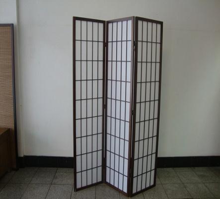 Shoji 3 Fold Screen -  Brown