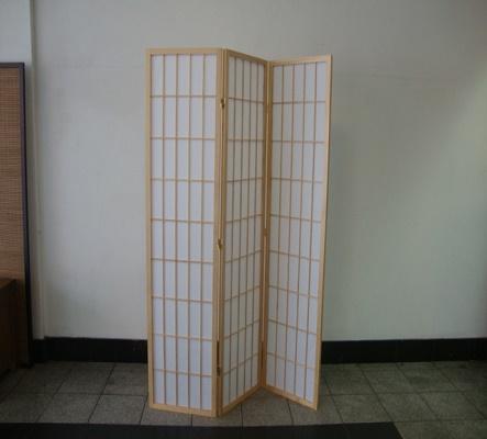 Shoji 3 Fold Screen -  Natural