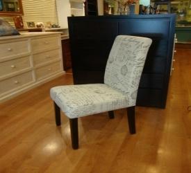 High Back Chair Script Fabric