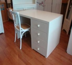 Modern Desk - Painted White